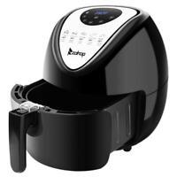 ZOKOP 1800W 6.87QT Electric Deep Air Fryer XL Timer Temperature Control Safe