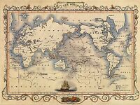 A4 Reprint of Old Maps Vintage Historic Poster