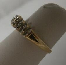 10K YELLOW GOLD DIAMOND ENGAGEMENT WOMENS RING SIZE 6.5  PRETTY DAINTY USA