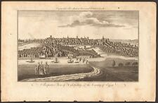 1779 ca ANTIQUE PRINT- ESSEX - PERSPECTIVE VIEW OF COLCHESTER