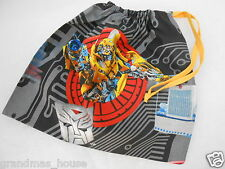 Transformers Library Bag  Bumblebee - Accessory Drawstring Tote Kindy Swimming