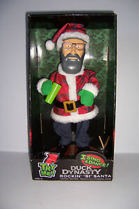 DUCK DYNASTY Commander Rockin Uncle Si Santa Sings Dances Christmas Figure NEW!