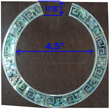 RS17# Rosette Inlay Paua Abalone & White Mother of Pearl 1.5mm thick for Guitar