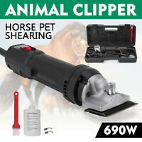 690W Professional Electric Animal Clipper Heavy Duty HorseHair Pet Shearing 110V