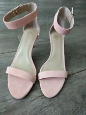 Shoes Ann Taylor 8 blush pink sandals heels kitten ankle strap suede