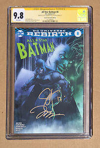 Jim Lee Scott Snyder CGC 9.8 SS signed All Star Batman #8 Fan Expo Variant JOKER