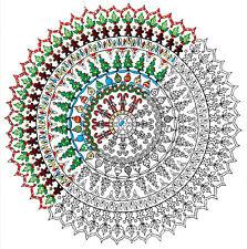 "Embroidery Kit ~ Design Works Zenbroidery Christmas Mandala 10"" x 10"" #DW4028"