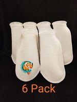 "Six (6) 4"" Filter Socks 4""x12"" Felt 200 Micron sock Aquarium Reef Wet Dry Sump"