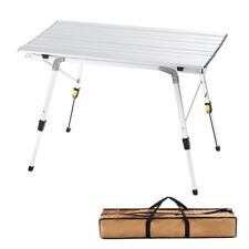 CampLand Aluminum Height Adjustable Camping Outdoor Lightweight Table
