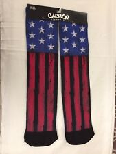Carbon Elements Mens Socks American Flag USA Red White Blue Star New One Size