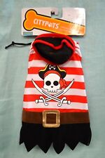 NEW Halloween DOG Outfit PIRATE Cape COSTUME SMALL Doggie Citypets RED Black