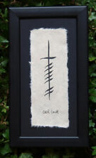Irish Single Ogham Wall Hangings Handmade In Ireland