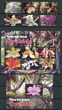 Papua Neuguinea 2004 Orchideen Orchids Blumen Flowers Blüte 1058-69 Block 29 MNH