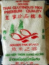 Thai Sweet Rice (4 LB) Bag-New Crop Golden Brand-aka Sticky Rice