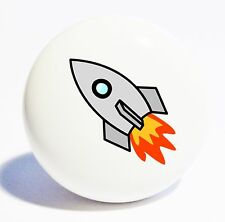 ROCKET SHIP HOME DECOR CERAMIC KNOB DRAWER CABINET PULL