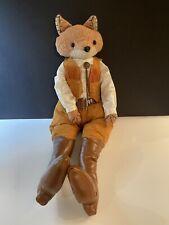 Cracker Barrel Mr Fox Sitter Doll Equestrian Western Toy Stuffed Plush New Tags