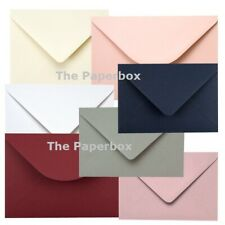 Coloured Envelopes for greeting cards, cardmaking & wedding choose colour & size