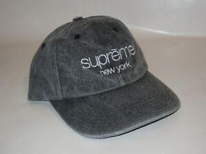 SUPREME 2-Tone Canvas 6-Panel BLACK Hat Adjustable NEW! F/W 2020 USA Made!