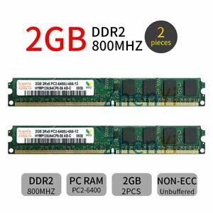 4GB 2x2GB DDR2 PC2-6400 800MHz 240Pin intel Desktop Memory DIMM RAM For Hynix ZT