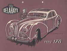 ✇ original prospectus brochure Delahaye type 178 d'environ 1948 very rare!