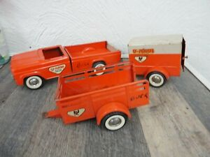 Vintage Ny-Lint Ford U Haul Truck & 2 Trailor's