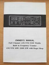 Vintage CB Radio Galaxy DX-88HL original owners manual/instruction book