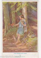 Margaret Tarrant, The Woodland Maid, Children Medici Postcard, B540