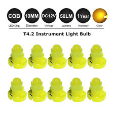 10x Amber T4 / T4.2 BLUE NEO WEDGE LED GLOBES SMD LED DASH CLUSTER LAMP 12V 10MM