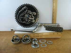 """Steel Crank with Components & Chain from a 20"""" Mongoose Speed Limit BMX Bicycle"""