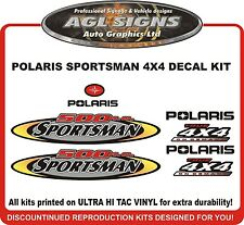 2002 POLARIS  Sportsman 500 H.O.  4X4 Decal kit  reproductions