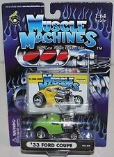 Nip '33 Ford Coupe - Muscle Machines - Green - 02-69 - 1:64 Scale