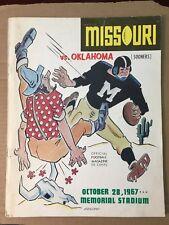 1967 Missouri Tigers vs Oklahoma Sooners Football Program GOOD Cond Bob Kalsu