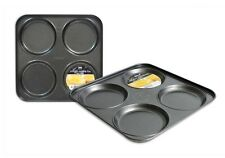4 Cup Carbon Steel Non Stick Shallow Yorkshire Pudding Baking Tray 23 x 23 x 2cm