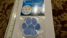 4 packs Adhesive Paw Print Bath Treads By SlipX Solutions blue