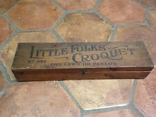 Antique 1880's Children's Croquet Set.....Little Folks Croquet No. 860 Toy Game
