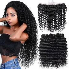 Free Part Ear To Ear 13x4 Lace Frontal Closure Deep Wave 10        Unprocessed B