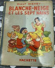 More details for blanche-neige walt disney snow white (french) hachette 1938 dj gc