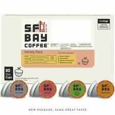 SF Bay Coffee Variety Pack 80 Ct  Compostable Coffee Pods, K Cup Compatible incl