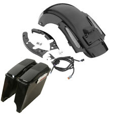 "FOR Harley Touring 2009-2013 5"" Stretched Extended Saddlebags + CVO Rear Fender"