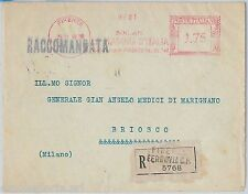 56978 - REGNO - STORIA POSTALE : Annullo ROSSO MECCANICO su BUSTA 1940 : MAGONA