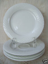 "HUTSCHENREUTHER SCALA LINE BIANCA GLOSSY PATTERN 4 PLATES 6.5"" AND ONE SAUCER"