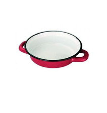 IBILI PLAT A OEUF 14CM EMAIL ROUGE