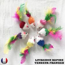 Souris en peluche avec des plumes pour chat NEUVE