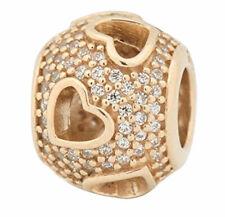 PANDORA Tumbling Hearts 14k Gold Charm 750840CZ