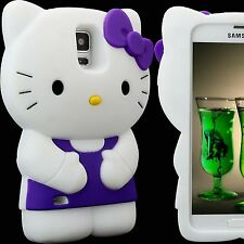 Case for Samsung Galaxy S5 Hello Kitty Skin  Silicone 3D Purple
