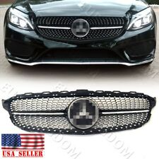Black Diamond Grille for Mercedes Benz W205 C-Class SPORT C250 C300 C400 C450