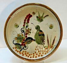 "VTG '60s? Collectable Ken Edwards Tonala Mexico Deep Rim Plate Dish ~ 9""  signed"