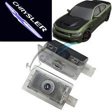 No Drill Car Door LED Logo Projector Shadow Lights for Chrysler 200 300 Sebring