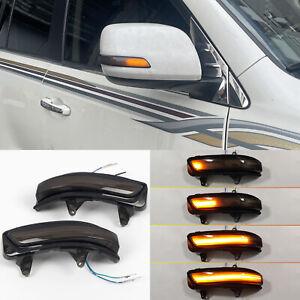 For Toyota Prado J150 2010-2021 Side Mirror LED Dynamic Turn Signal Lights 2pcs