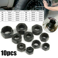 10PCS/Set Low Bolt Nut Remover Extractor Kit Damaged Stripped Socket Wrench Tool